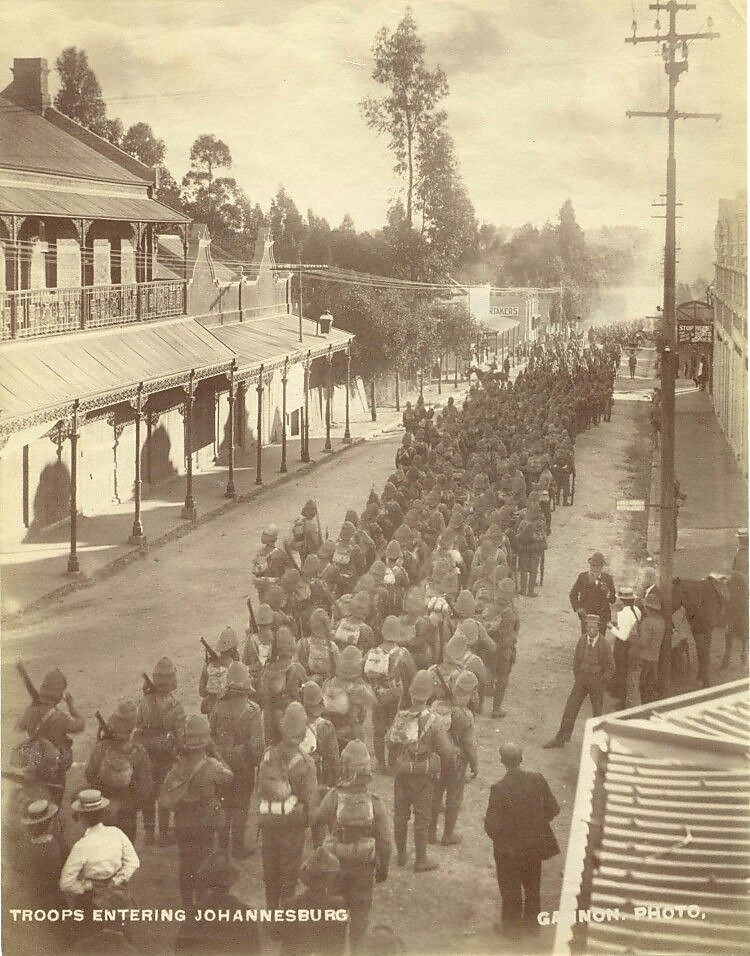 British Soldiers March Into Johannesburg 31 May 1900