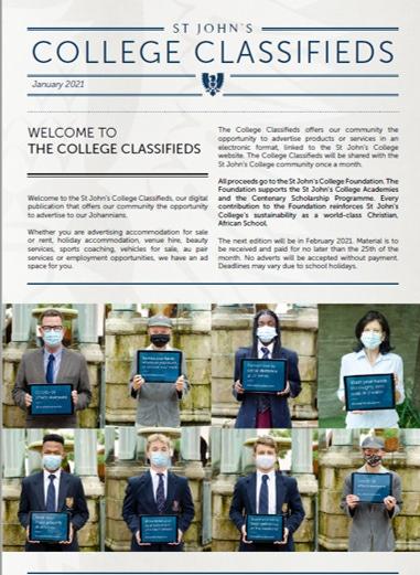 College Classifieds Jan