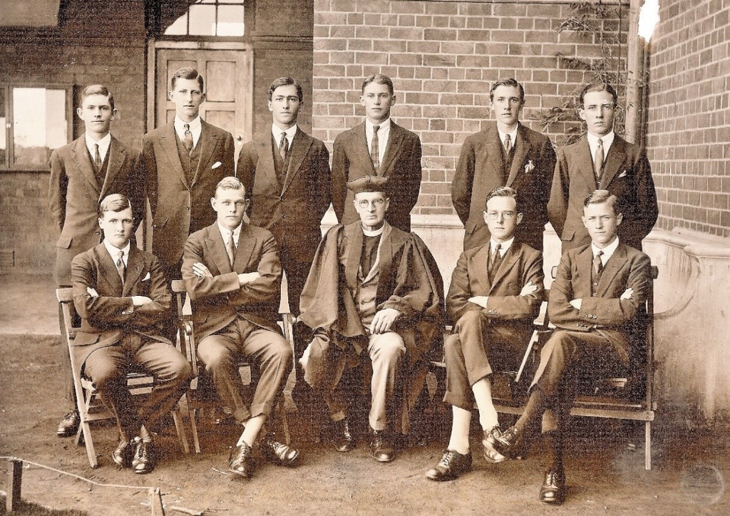 Fr Eustace St Clair Hill And College Prefects 1920