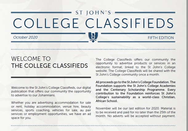 October Classifieds