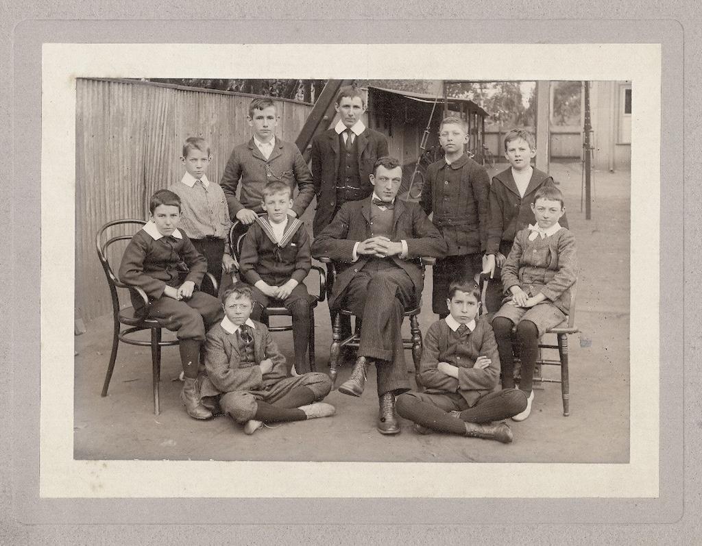 The Revd Mr Hodgson And College Boys 1898
